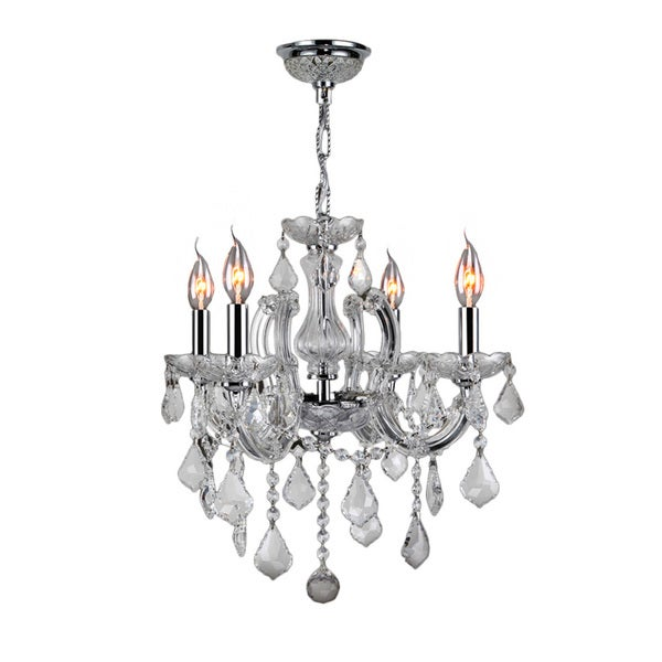 Maria Theresa Collection 4-light Chrome Finish and Clear Crystal Royal Chandelier