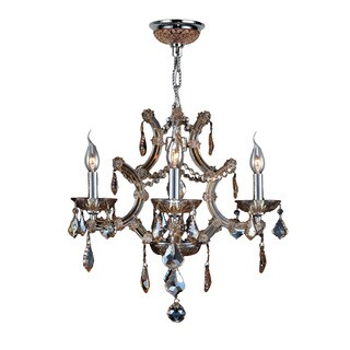 Maria Theresa Collection 4-light Chrome Finish and Amber Crystal Royal Chandelier