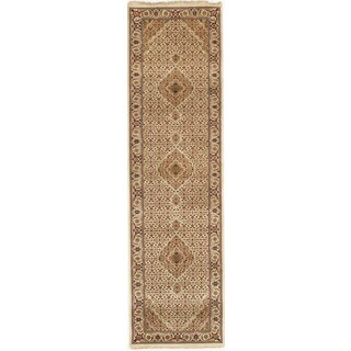 Hand-knotted with Tabriz Design Runner Rug (2' 9 x 9' 9)