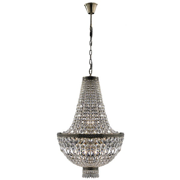 French Empire 8-light Antique Bronze Finish Clear Crystal Basket Chandelier - 18618005 ...