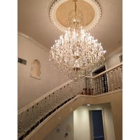 Maria Theresa Grand 60-light Chrome Finish and Clear Crystal Royal Chandelier