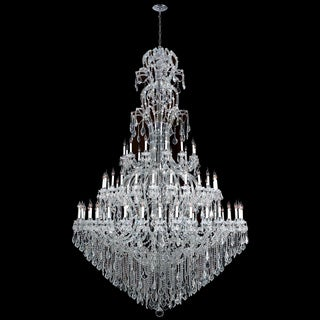 Maria Theresa Grand 72-light Chrome Finish and Clear 3-tier Crystal Royal Chandelier