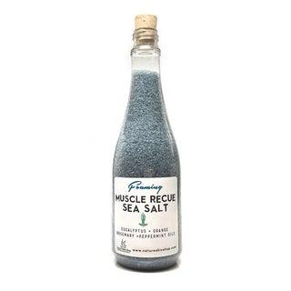 Foaming Muscle Rescue Dead Sea Salt Bath with Eucalyptus/ Orange Rosemary/ Peppermint Oils - 14 ounces