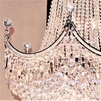 French Empire Collection 18-light Chrome Finish and Clear Crystal Chandelier