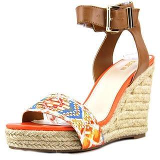 Bar III Women's 'Athena' Orange Synthetic Sandals