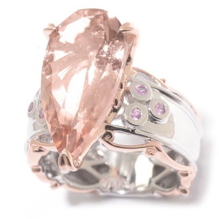 Michael Valitutti Morganite with Pink Sapphire Ring
