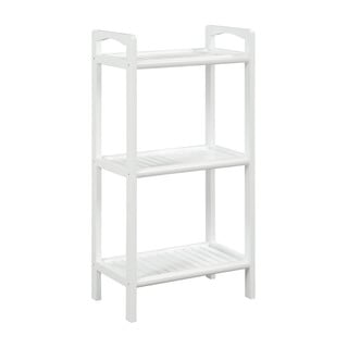 New Ridge Home Abingdon White Solid Birch Wood 3 Shelf Tower