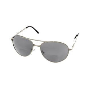 Hot Optix Men's Metal Aviator Sunglass Readers