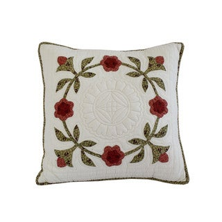 Nostalgia Home Folk Art 18-Inches Wide x 18-Inches Long Decorative Throw Pillow