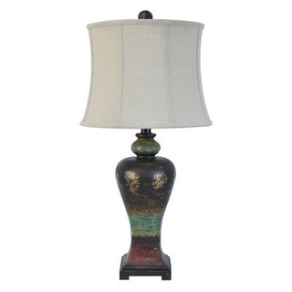 Crestview Collection 32.5-inch Antique Pottery Table Lamp