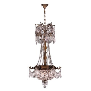 Majestic 3-light Antique Bronze Finish Crystal Royal Chandelier