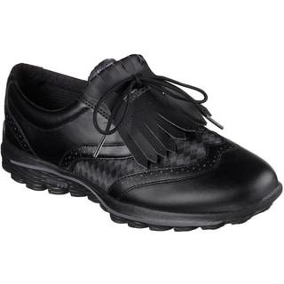 Skechers Go Golf Kiltie Golf Shoes 2016 Ladies Black/Grey