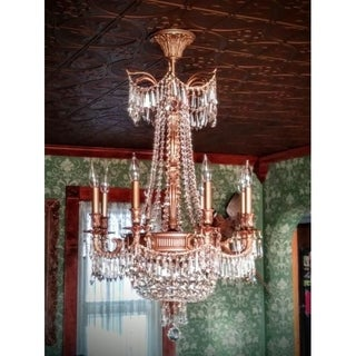Majestic 12-light French Gold Finish Crystal Royal Chandelier