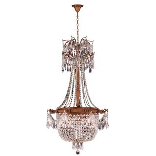 Majestic 4-light French Gold Finish Crystal Royal Chandelier