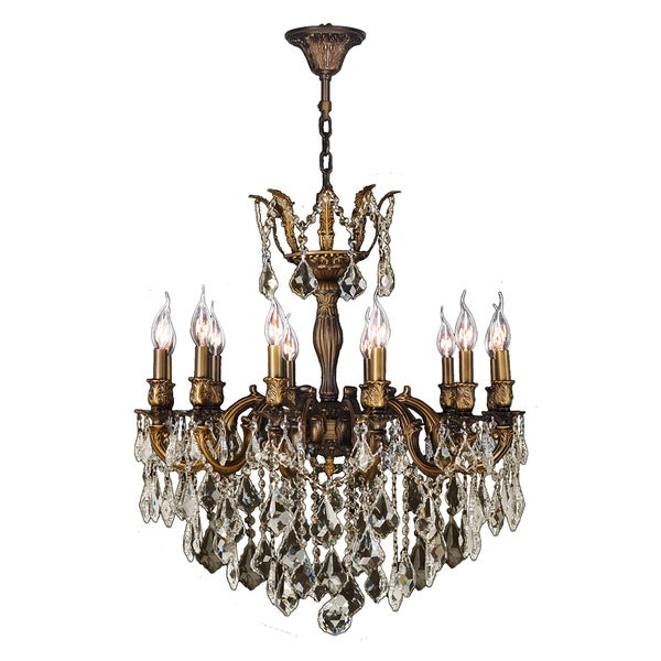 French Versailles Collection 12light Antique Bronze Finish and – Bronze Chandelier with Crystals