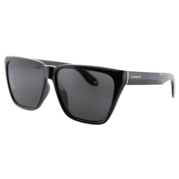 2af5a45225 Shop Givenchy GV 7002 D28 Black Plastic Square Grey Lens Sunglasses ...