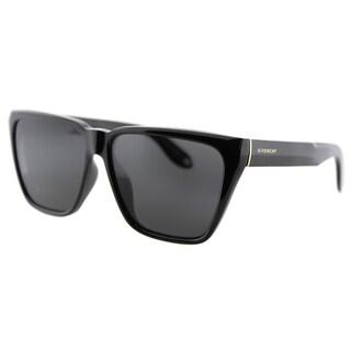Givenchy GV 7002 D28 Black Plastic Square Grey Lens Sunglasses