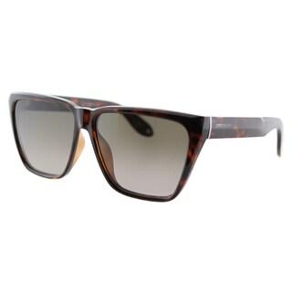 Givenchy GV 7002 LSD Dark Havana Plastic Square Brown Gradient Lens Sunglasses