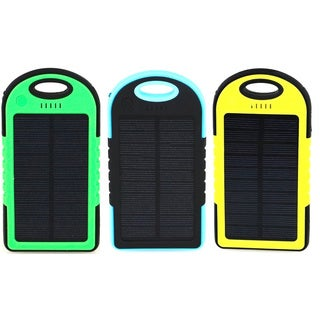 iPM 5,000 mAh Solar Powered Flash Charger for Smartphones (Option: Yellow)
