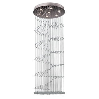 Crystal Rainfall 7-light in Polished Chrome Finish Flush Mount Ceiling Light
