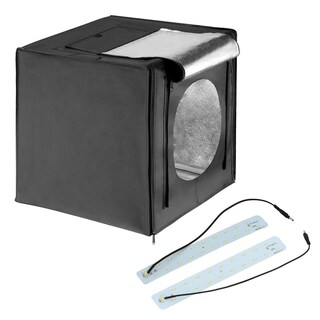 Square Perfect LED Photo Studio In A Box w/4 Color Backdrops Pro Quality