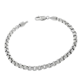 Sterling Silver 5mm Round Box Bracelet