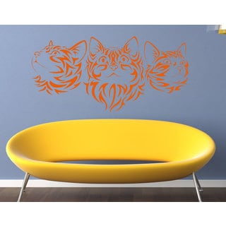Beautiful cat Horses animals Wall Art Sticker Decal Orange