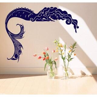 Mermaid beauty water realm Wall Art Sticker Decal Blue