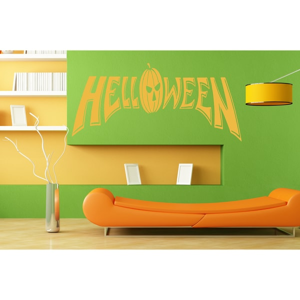Halloween celebration pumpkin Wall Art Sticker Decal Orange