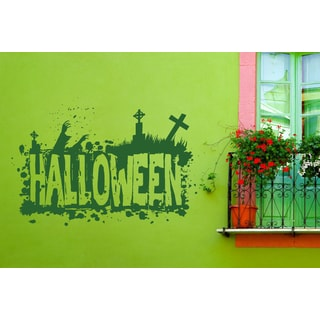 Halloween celebration zombie Wall Art Sticker Decal Green