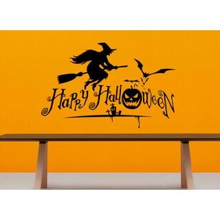 Halloween celebration witch broom Wall Art Sticker Decal
