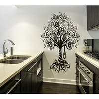 Nature tree plant Wall Art Sticker Decal Brown
