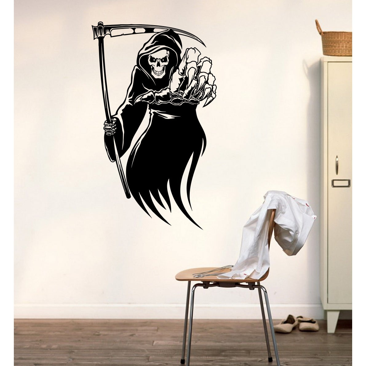 Halloween skeleton Wall Art Sticker Decal (22 inches x 33...