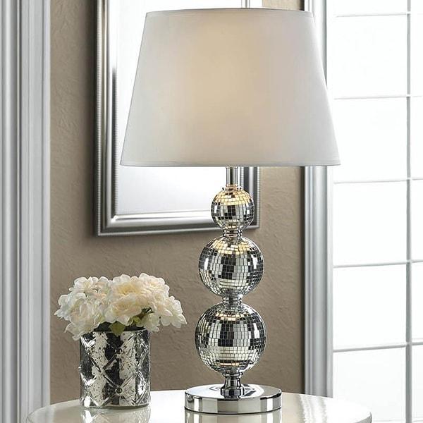 Fancy Tri-Ball Mirror Table Lamp