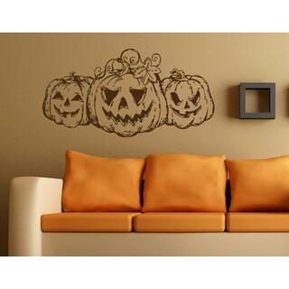 Halloween pumpkin Wall Art Sticker Decal Brown