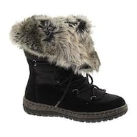 Women's Wanderlust Liv Waterproof Snow Boot Black/Black Suede