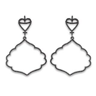 Olivia Leone Sterling Silver 1 1/6ct TGW Genuine Black Spinel Earrings