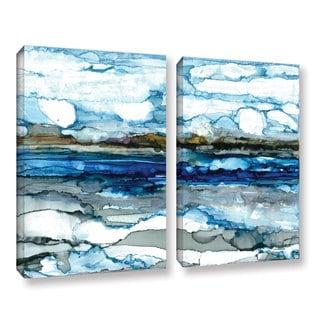 ArtWall Norman Wyatt JR's ' Silver Coast'  2-piece Gallery Wrapped Canvas Set