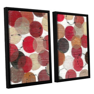 ArtWall Norman Wyatt JR's ' Roulette'  2-piece Floater Framed Canvas Set