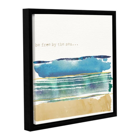 Jess Aiken's 'By the Sea I' Gallery Wrapped Floater-framed Canvas