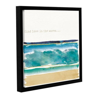 Jess Aiken's 'By the Sea II' Gallery Wrapped Floater-framed Canvas
