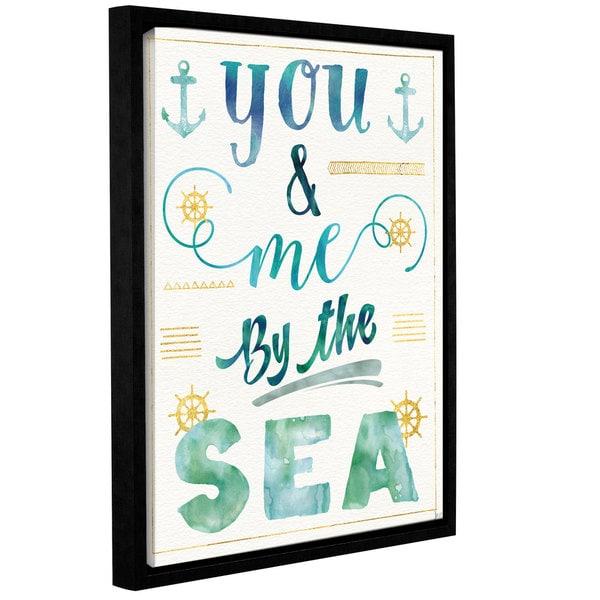 Jess Aiken's 'Coastal Words II' Gallery Wrapped Floater-framed Canvas