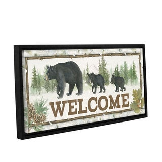 Beth Grove's 'Family Cabin Welcome' Gallery Wrapped Floater-framed Canvas