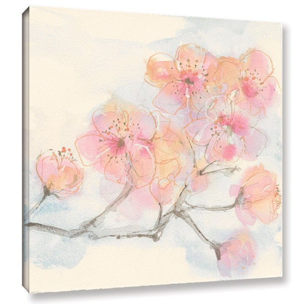 Chris Paschke's 'Pink Blossoms III' Gallery Wrapped Canvas