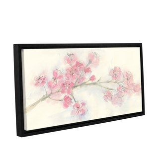 Chris Paschke's 'Cherry Blossom I' Gallery Wrapped Floater-framed Canvas