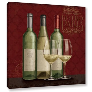Janelle Penner's 'Bistro Paris White Wine v2' Gallery Wrapped Canvas