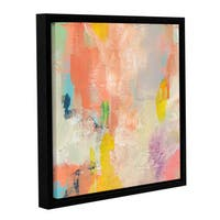 Jan Weiss's 'Beyond the Line 1' Gallery Wrapped Floater-framed Canvas - Multi