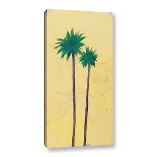 Jan Weiss's 'Yellow Twin Palms' Gallery Wrapped Canvas