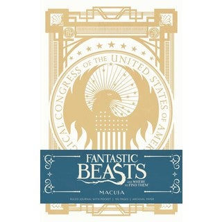 Fantastic Beasts and Where to Find Them Macusa Hardcover Ruled Journal (Notebook / blank book)