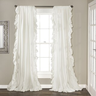 Lush Decor Reyna Curtain Panel Pair in Ivory (As Is Item)